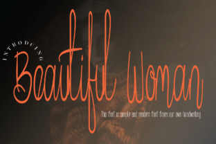 Print on Demand: Beautiful Woman Script & Handwritten Font By handwrittenwanda