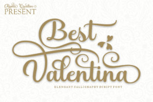 Print on Demand: Best Valentina Script & Handwritten Font By Romie Creative