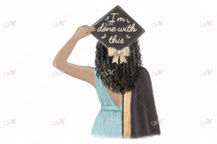 Black Girl Graduated Illustration Graphic Illustrations By MaddyZ