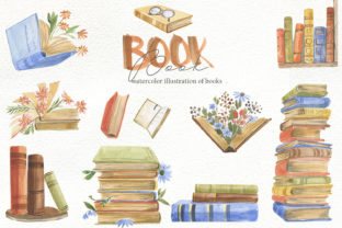 Print on Demand: Books Clipart, Watercolor Graphic Illustrations By laffresco04