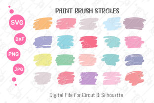 Print on Demand: Brush Stroke SVG |Keychain Brush Stroke Graphic Illustrations By CRStocker