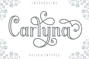 Print on Demand: Carlyna Display Font By Kelik - 7NTypes