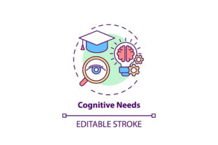 Print on Demand: Cognitive Needs Concept Icon Graphic Icons By bsd studio