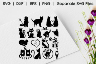 Cute Cat Silhouette Graphic Crafts By asmatanhabd