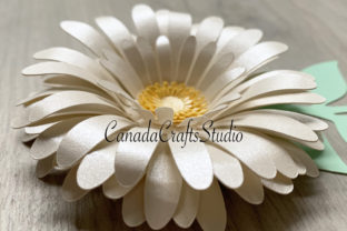 Daisy Paper Flower Template Graphic 3D Flowers By Canada Crafts Studio