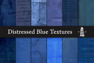 Print on Demand: Distressed Blue Textures Graphic Backgrounds By northseastudio