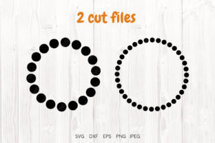 Print on Demand: Dotted Circle, 2 Cut Files Graphic Illustrations By VitaminSVG