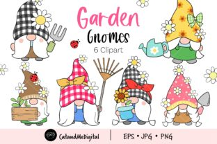 Garden Gnome Clipart Graphic Illustrations By CatAndMe