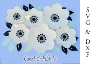 Giant Paper Flower Template Graphic Crafts By Canada Crafts Studio