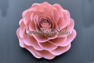 Giant Rose Flower Template & Butterfly Graphic 3D Flowers By Canada Crafts Studio