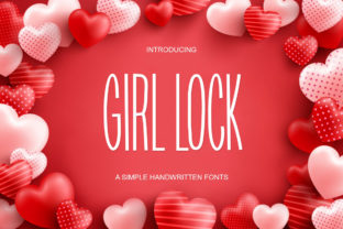 Print on Demand: Girl Lock Sans Serif Font By Ladyrose