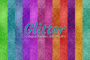 Print on Demand: Glitter Digital Papers Set Graphic Backgrounds By Craphist