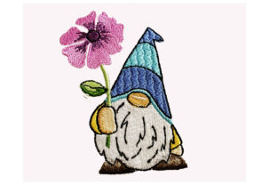 Gnome with a Flower Fairy Tales Embroidery Design By Canada Crafts Studio