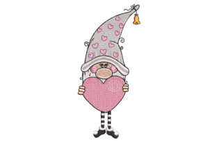 Gnome with a Heart Fairy Tales Embroidery Design By Canada Crafts Studio