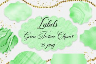 Print on Demand: Green Labels Clipart Graphic Backgrounds By PinkPearly