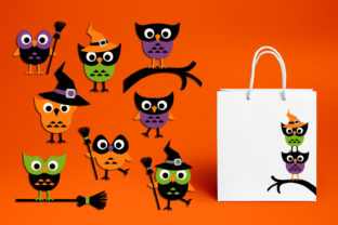 Print on Demand: Halloween Owls Graphic Illustrations By Revidevi