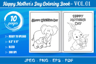 Happy Mother's Day Coloring Book VOL.01 Graphic KDP Interiors By KDP Mastery