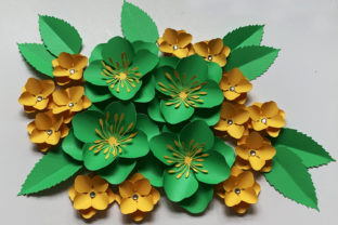 Hydrangea Paper Flower Template Graphic 3D Flowers By Canada Crafts Studio