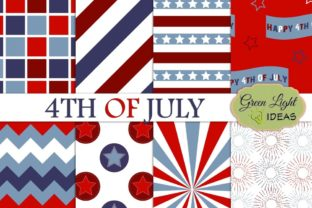 Independence 4th of July Digital Papers Graphic Backgrounds By GreenLightIdeas