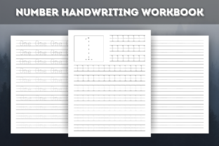 Print on Demand: KDP Interior Number Handwriting Workbook Graphic Teaching Materials By Vinici Studio