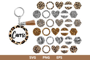 Keychain Pattern Leopard Pattern Graphic Crafts By MLStudio