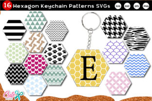 Keychain Hexagon Pattern Vol.1 SVG File Graphic Crafts By Cute files