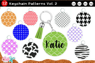 Keychain Pattern Vol.2 SVG Cutfile Graphic Crafts By Cute files