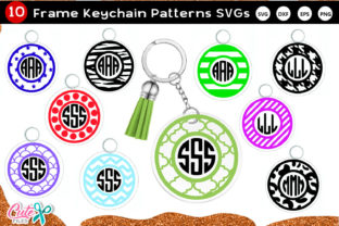 Keychain Pattern Monogram Frame SVG File Graphic Crafts By Cute files