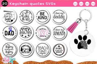 Keychain Quotes Vol.1 SVG Bundle Graphic Crafts By Cute files