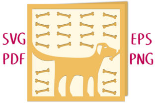 Labrador Retriever Dog Card SVG Cut File Graphic 3D SVG By Nic Squirrell