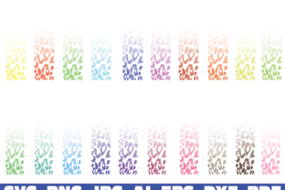 Print on Demand: Leopard Ombre Print Glitter Pen Wraps Grafik Illustrationen von Sofiamastery