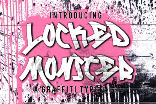 Print on Demand: Locked Monster Decorative Font By sipanji figuree