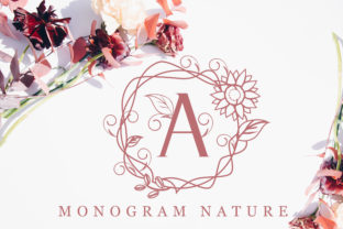 Print on Demand: Monogram Nature Decorative Font By handles creative