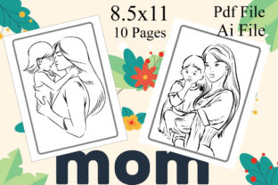 Mother's Day Coloring Pages | Kdp Interior Graphic KDP Interiors By Creative interior
