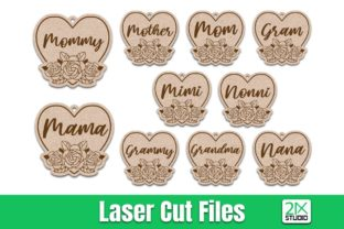 Mother's Day Keychain Svg Laser Cut File Graphic Crafts By 21XSTUDIO