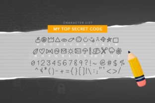 Print on Demand: My Top Secret Code Dingbats Font By Reg Silva Art Shop