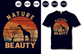 Nature Beauty T-shirt Design Graphic Print Templates By aroy00225