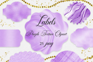 Print on Demand: Purple Labels Clipart Graphic Backgrounds By PinkPearly