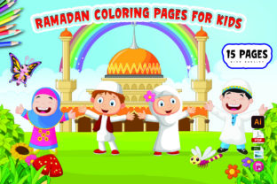 Ramadan Coloring Pages for Kids Graphic KDP Interiors By Moonz Coloring