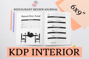Print on Demand: Restaurant Review Journal | KDP Interior Graphic KDP Interiors By KDP Mastermind