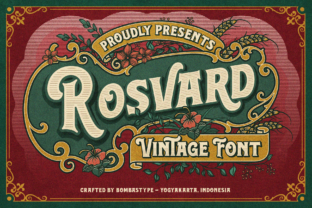 Print on Demand: Rosvard Display Font By bombastype