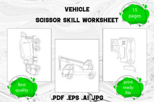 Print on Demand: Scissor Skill for Kids Vehicle Part 1 Graphic Coloring Pages & Books Kids By Day Dreamer
