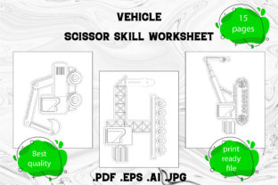 Print on Demand: Scissor Skill for Kids Vehicle Part 2 Graphic Coloring Pages & Books Kids By Day Dreamer