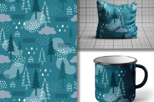 Seamless Pattern of Fir Tree Graphic Patterns By lindoet23