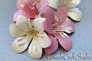 Small Paper Flower Lily Template Graphic 3D Flowers By Canada Crafts Studio