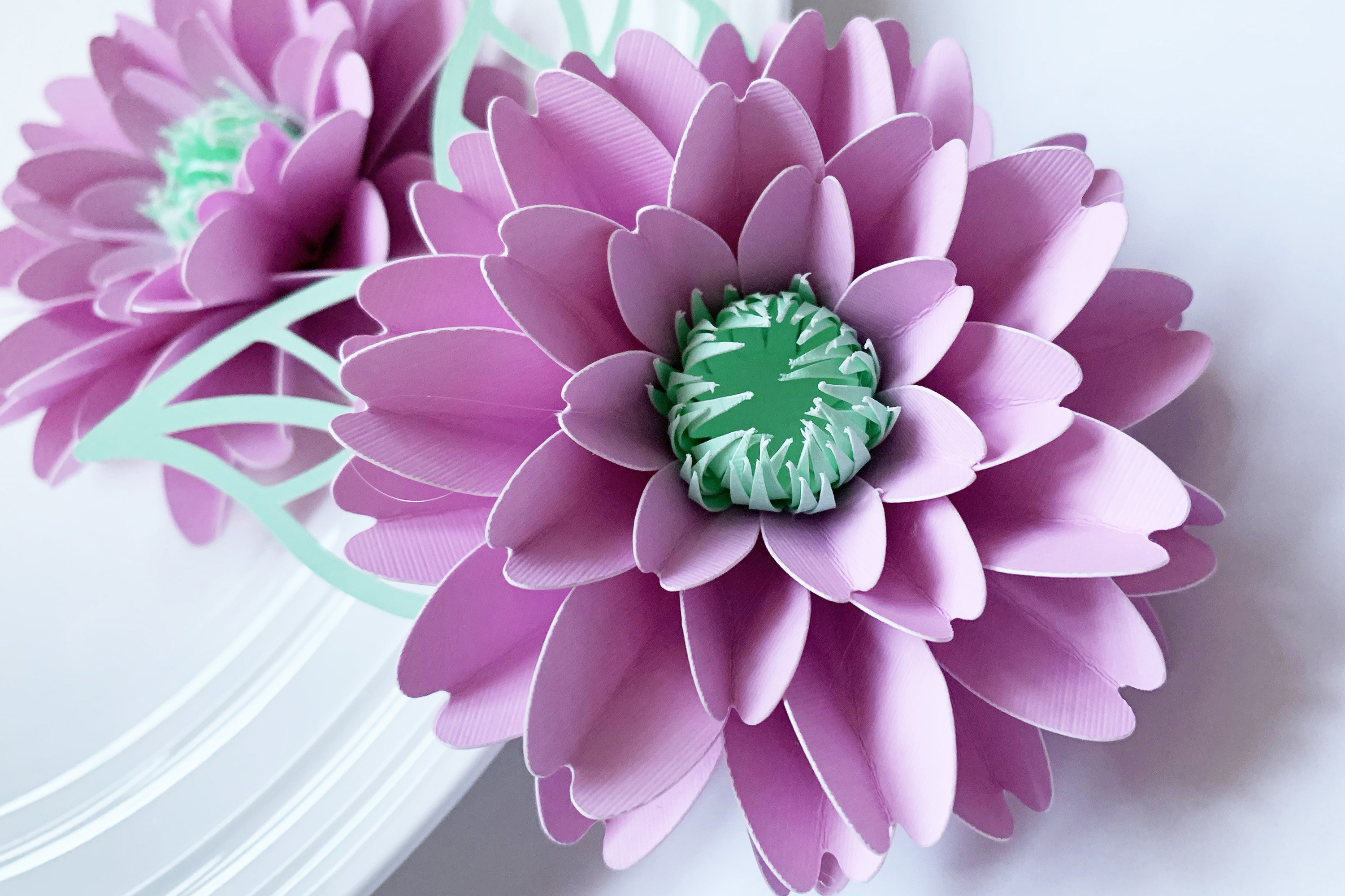 Small Paper Flower Template SVG File