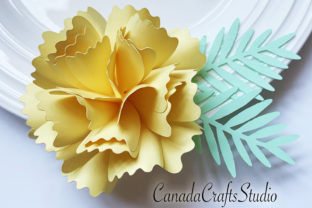 Small Paper Flower Template & Leaf Graphic 3D Flowers By Canada Crafts Studio