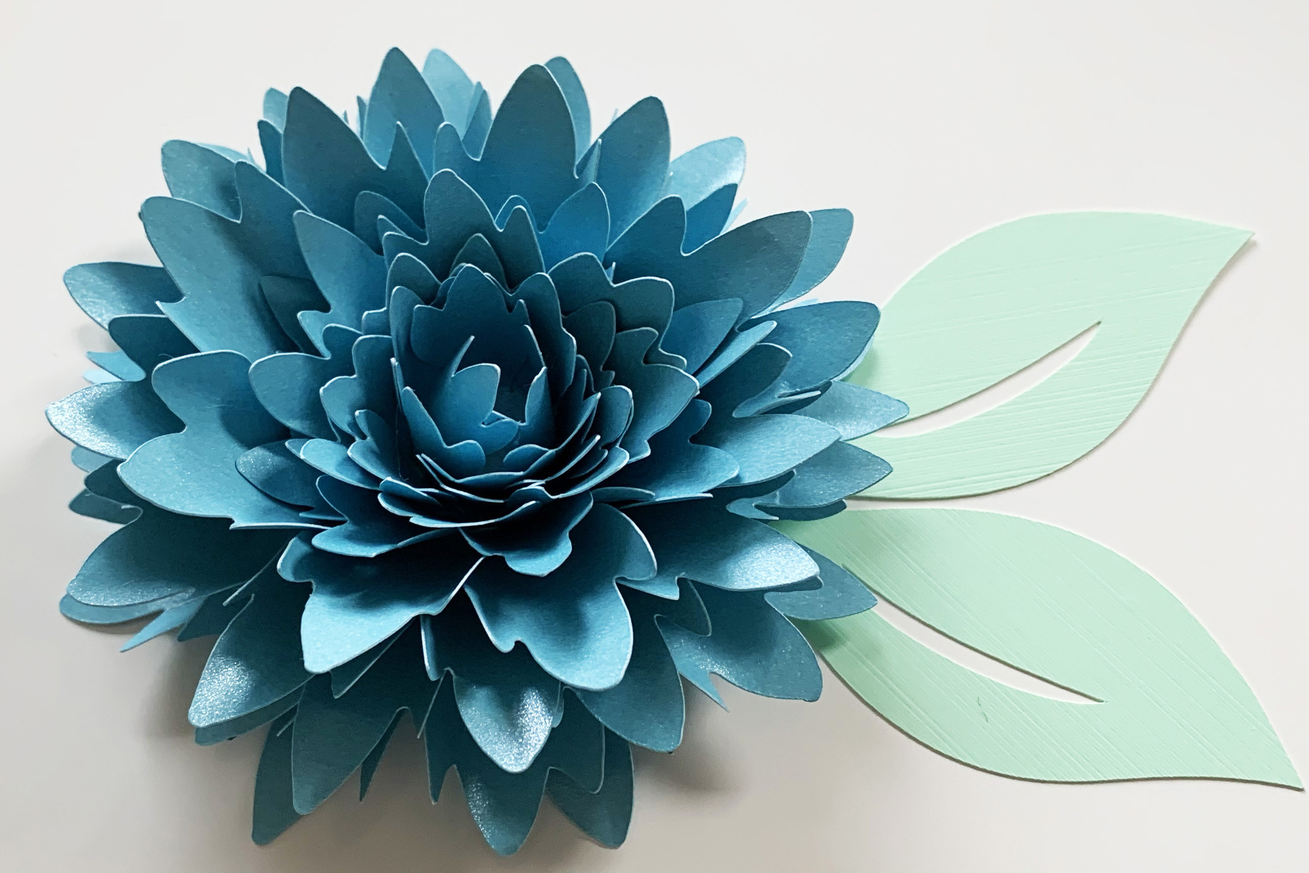 Small Paper Flower Template & Leaf SVG File