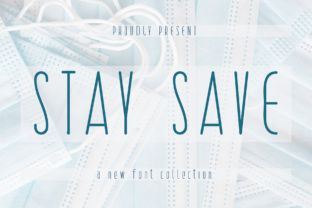Print on Demand: Stay Save Display Font By handwrittenwanda
