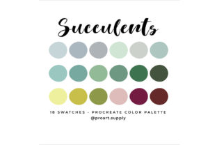Succulents Procreate Color Palette Graphic Add-ons By digitalartsupply0